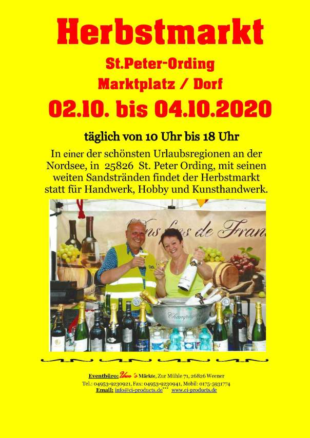 Herbstmarkt 2020 - Flyer - End Variante