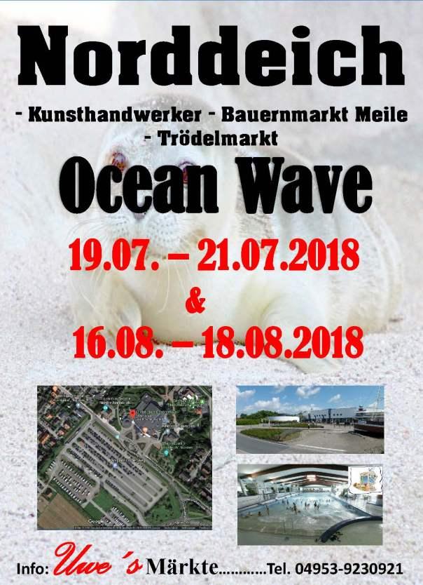 Norddeich - Ocean Wave-1 - Rand - Schatten